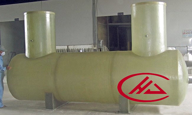 FRP round tank for siltation, sedimentation, rubber